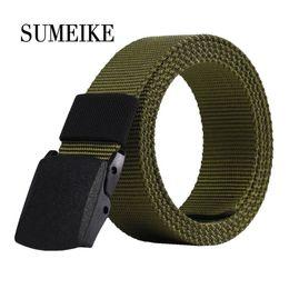 $enCountryForm.capitalKeyWord Canada - 3.8cm Width Plastic Buckle Canvas Belts For Men 110-120cm