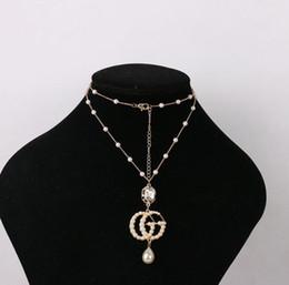 e6c368971f3b No desvanecimiento de la letra G collar de perlas japonesas y coreanas  joyas collar salvaje simple cadena larga suéter colgante