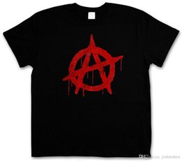 Gothic Style Clothes Australia - Summer Style Fashion ANARCHY A VINTAGE LOGO T-SHIRT - Cyber Punk Gothic Rocker Symbol Sign T-Shirt Hip-Hop Casual Clothing
