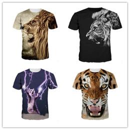 02d78a8c2c9969 3D Gedruckt T-Shirt Für Männer und Frauen Poplular Herren König Lion Print  Designer T Shirts Frauen Kleidung Tops