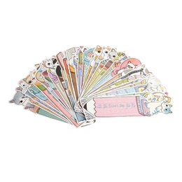 Chinese  30Pcs Cartoon Cat Kitten Paper Bookmark Note Memo Stationery Souvenir Collection manufacturers