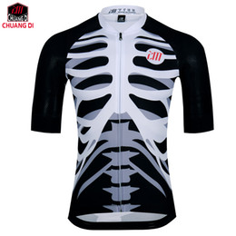 Jersey cycling short sleeve design online shopping - Hot Selling Breathable Men s Cycling Jersey Hot Design Summer Short Sleeve Cycling Jerseys Quick Dry Bones Cycling Clothing