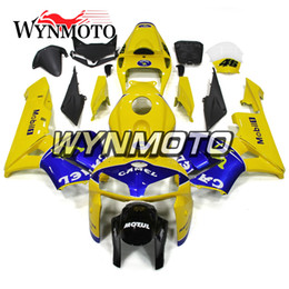 $enCountryForm.capitalKeyWord Australia - Blue Yellow Motorcycle Cowlings ABS Injection Bodywork For Honda CBR600RR F5 Year 2005 2006 05 06 Complete Fairing Kit Body Kit