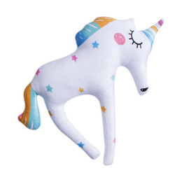 $enCountryForm.capitalKeyWord UK - Rainbow Unicorn Doll Pillow Soft Plush Stuff Toy Lumbar Pillow For Kid Gift
