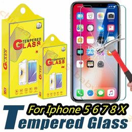 Shatter guard Screen protector online shopping - Tempered Glass Screen Protector Film Guard H Hardness Explosion Shatter Film For iphone Plus X XR XS Max htc s6 s7 s8 s9