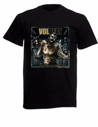 China Volbeat Seal The Deal Mens Black Rock T-shirt NEW Sizes S-XXXL New Mens Spring Summer Dress Short Sleeve Casual T Shirt suppliers