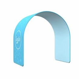Bag stand display rack online shopping - Wedding Round Arch Entrance Trade Show Arch Stand Artificial Flower Wedding Arch with Tension Fabric Graphic and Portable Carry Bag