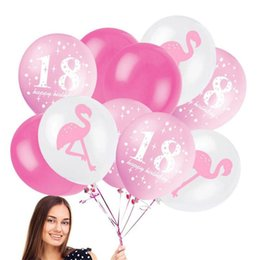 12inch Flamingo Latex Balloon Ananas Leaf Compleanno Matrimonio Baby Shower Pool 18 ° compleanno Decor per feste Addio al nubilato Forniture per feste