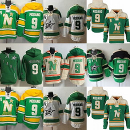 $enCountryForm.capitalKeyWord NZ - Factory Outlet Mens Dallas Stars 9 Mike Modano Best Quality Hot Sale Cheap Stitched 100% Embroidery Ice Hockey Hoodies Sweatshirts
