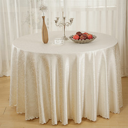 Flowered cotton tablecloths online shopping - Hotel Series Jacquard Tablecloth Table Cloth Restaurant Household Round Table Skirt Tick Flower Home Ornament Home Textiles by3 gg