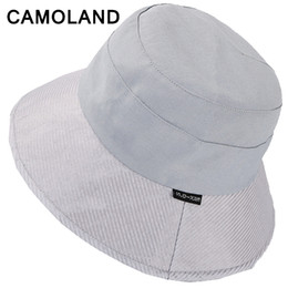$enCountryForm.capitalKeyWord NZ - High Quality Cotton Women Bucket Hats Solid Panama Summer Fishing Hat Female Caps Large Wide Brim Sun Hat Hiphop Unisex Men