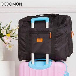 7a2a9ed17c0f Men WaterProof Travel Bag For Suit Nylon Large Capacity Women Bag Folding  Travel Duffle Handbags Luggage Packing Cubes Organizer