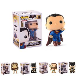 Kid Figurines NZ - 5 Designs Funko POP Action Figurines Toys Justice League Superhero PVC Cartoon Action Figures Model Kids Gift LA626-2