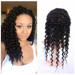 Discount virgin hair bleached knot closure - 360 Virgin Deep Wave Lace Frontal Closure Bleached Knots Free Middle Three Part 360 Frontal With Baby Hair
