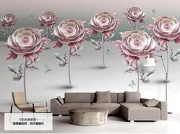 $enCountryForm.capitalKeyWord NZ - 3D Wall Murals Pastoral Style Photo Wallpaper For Living Room Bedroom Flower butterfly Hotel Home Office Restaurant Kitchen Wallpaper