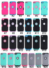 $enCountryForm.capitalKeyWord UK - Armor Case Impact aHard PC+Silicone Gel Combo Hybrid 3 in 1 Heavy Duty Dual Color Rubber skin For Apple Ipod Touch 5 6