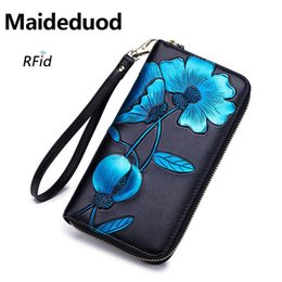$enCountryForm.capitalKeyWord Australia - New Fashion Brand ladies' Wallet Leather Long Clutch Artificial color painting Zipper Large Capacity Cardholder Ms. purse Free shipping