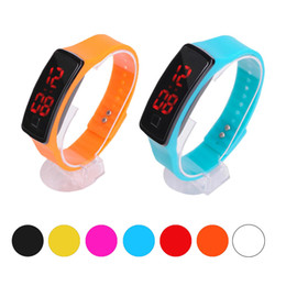 Men Digital Wrist Watches NZ - New Fashion Sport LED Watches Candy Jelly men women Silicone Rubber Touch Screen Digital Watches Bracelet Wrist watch