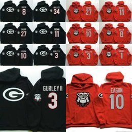 76206ccab Men Georgia Bulldogs Coollege Jersey 34 Herchel Walker 27 Nick Chubb 11  Jake Fromm 10 Jacob Eason 3 Gurley II Jerseys Hoodies Sweatshirts