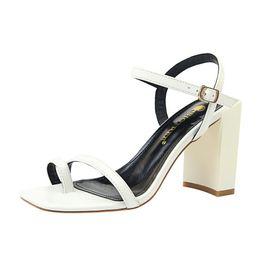 6c5faa7baef8 2018 Summer News Women s Clip Toe Shoes Fashion Big Yard Chunky Heel Silk  Clear Sandals Working Hight Heel Sandals