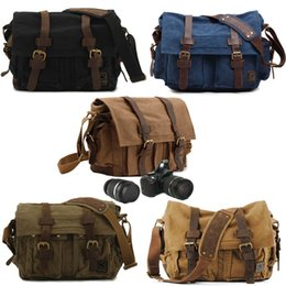 Wholesale Vintage Camera Shoulder Bag with Removable Inserts for DSLR Cameras Video Outdoor Travel Photography Bag Style Dual Purpose Bag G177S