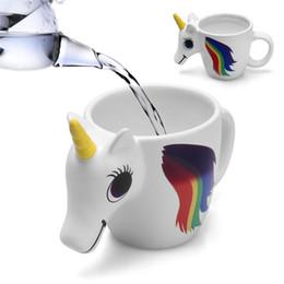 Magical cups online shopping - Unicorn Mug Ceramic Cup Cartoon Lovely Milk Unicornio Water Coffee Mug Color Changing Sensitive Magical Unicornio Tumbler T1I900