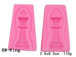 $enCountryForm.capitalKeyWord UK - Chess Molds Series-King, Queen,Rook,Bishop,Knight,Pawn chocolate Silicone Molds bakery mini muffin decorating tools Cake Decorating Tool