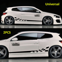 car side graphics 2020 - 2PCS Waterproof Car Decal Vinyl Graphics Side Stickers Body Decals Sticker Black