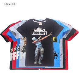Fortnite Juego Camiseta para Big Boy Chica Ropa Disfraz Fornite Fortnight Kid Camiseta Algodón Imprimir Teenage Children Boutique Ropa superior