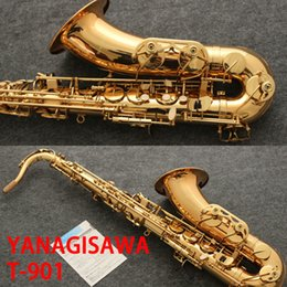 Discount bb tenor saxophone - 2017 YANAGISAWA T-901 Saxophone Tenor Support Professional Gilding Plated and Lacquer Gold Tenor Saxophone Sax with Case