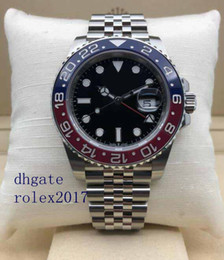 Best quality products online shopping - Men s Luxury Products Best Quality Classic Series mm GMT BLRO BLRO Pepsi Red Blue Bezel Asia Movement Automatic Watches