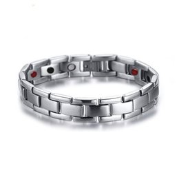 Hematite Jewelry Sets NZ - Drop shipping brand new top quality men's stainless steel bracelet magnets germanium bracelets hematite fashion jewelry factory supplier 160
