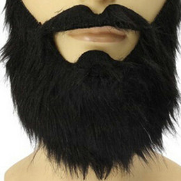 Chinese  Fashion Funny Costume carnivals Halloween Party Mask Male Man Halloween Beard Facial Hair Disguise Game Black Fake Mustache manufacturers