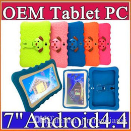 """JT 2020 Kids Brand Tablet PC 7"""" Quad Core children tablet Android 4.4 Allwinner A33 google player wifi + big speaker + protective cover DHL on Sale"""