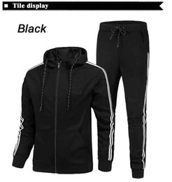 $enCountryForm.capitalKeyWord Canada - Hot Sport Brand Men's Women's Tracksuits Side Stripe Long Sleeve Hooded Jackets Pants Jogger Sportswear for Men Plus Size Sport Suit S-2XL