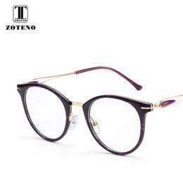 Discount metal myopia frame - TR90 Metal Eyeglasses Frame Women Fashion Round Myopia Optical Clear Computer Reading Prescription Glasses Frames #2123