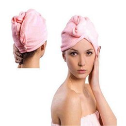 Chinese  New Microfiber Magic Hair Dry Drying Turban Wrap Towel Hat Cap Quick Dry Dryer Bath Make Up Towel manufacturers