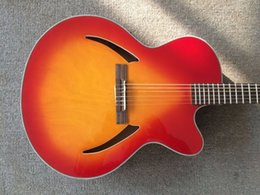 New body acoustic guitars online shopping - New Arrival G Classic Acoustic Electric Guitar In Cherry Burst