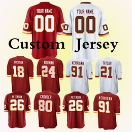 f711331f4 2019new Washington Redskins jerseys 26 Adrian Peterson 11 Alex Smith 91  Ryan Kerrigan 26 Adrian Peterson 25 Chris Thompson Custom Jersey re