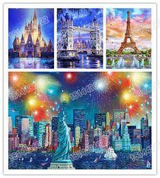 paintings new york 2019 - 5d Diy Diamond Painting Scenery Paris New York Moscow Diamond embroidery 3d Cross Stitch Embroidery Diamond mosaic Home