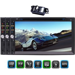 car double phone charger usb Canada - 7-Inch Double Din Bluetooth Car DVD Player 1080P Capacitive touch Screen In Dash Car Stereo Radio Player USB AM FM RDS Radio MP5