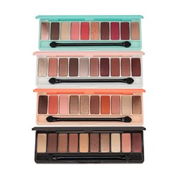 Discount naked nudes palette - Fashion eyeshadow palette 10Colors Matte EyeShadow naked palette Glitter eye shadow MakeUp Nude MakeUp set Korea Cosmeti