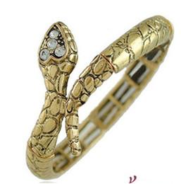 Chinese  Diamond Golden Snake Bracelet Bracelet personality punk loose shrink F49 manufacturers
