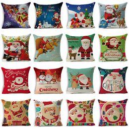 Make Custom Cars NZ - New Christmas gifts Santa Claus linen pillow case car custom made by pillowcase pillow cover cushion cover