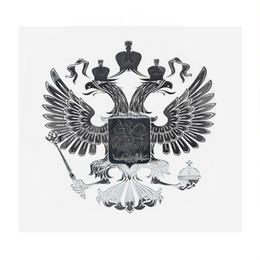 Russian aRm online shopping - 90 mm Coat of Arms of Russia Nickel Metal Sticker Secals for Car Phone Laptop Russian Federation Car Stickers Auto Accessories