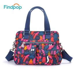Large Floral Bag Canada - Findpop Floral Printing Handbags Women Large Capacity Casual Crossbody Bags For Women 2018 New Waterproof Nylon Top-Handle Bags