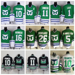 Discount whalers hockey jersey - Hartford Whalers Jersey Men 1 Mike Liut 10  Ron Francis 11 891343b7b