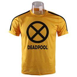 8f6e098e3052 Deadpool T Shirts Canada - Deadpool 2 T Shirt Cosplay Costumes Yellow Wade  Wilson Merc With