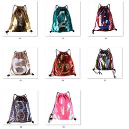 Genuine Leather Crossbody Handbags Wholesale Australia - Mermaid Glitter Sequins Backpacks Drawstring Fashion Sport Gym PE Backpacks Crossbody HandBags Cosmetic Makeup Bag Tote Storage Bag LC793
