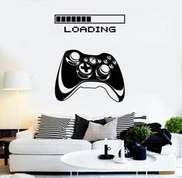 $enCountryForm.capitalKeyWord NZ - Art Joystick Loading Video Game Wall Sticker for living room boys room bedroom home wall decoration